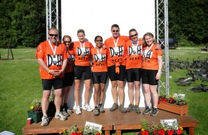 Virginia Beckett and friends who recently rode the Rob Roy Challenge