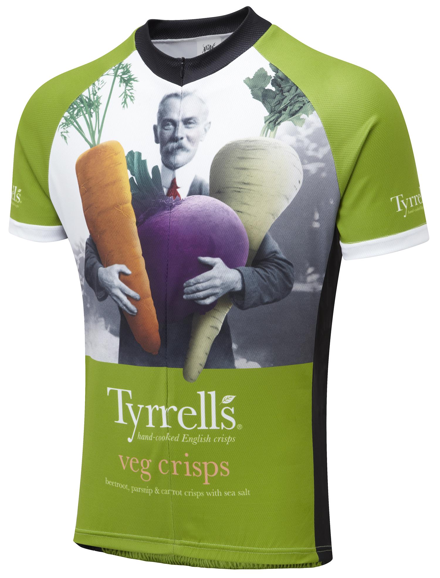 Tyrrell s Veg Crisps Road Cycling Jersey  92e1d040b