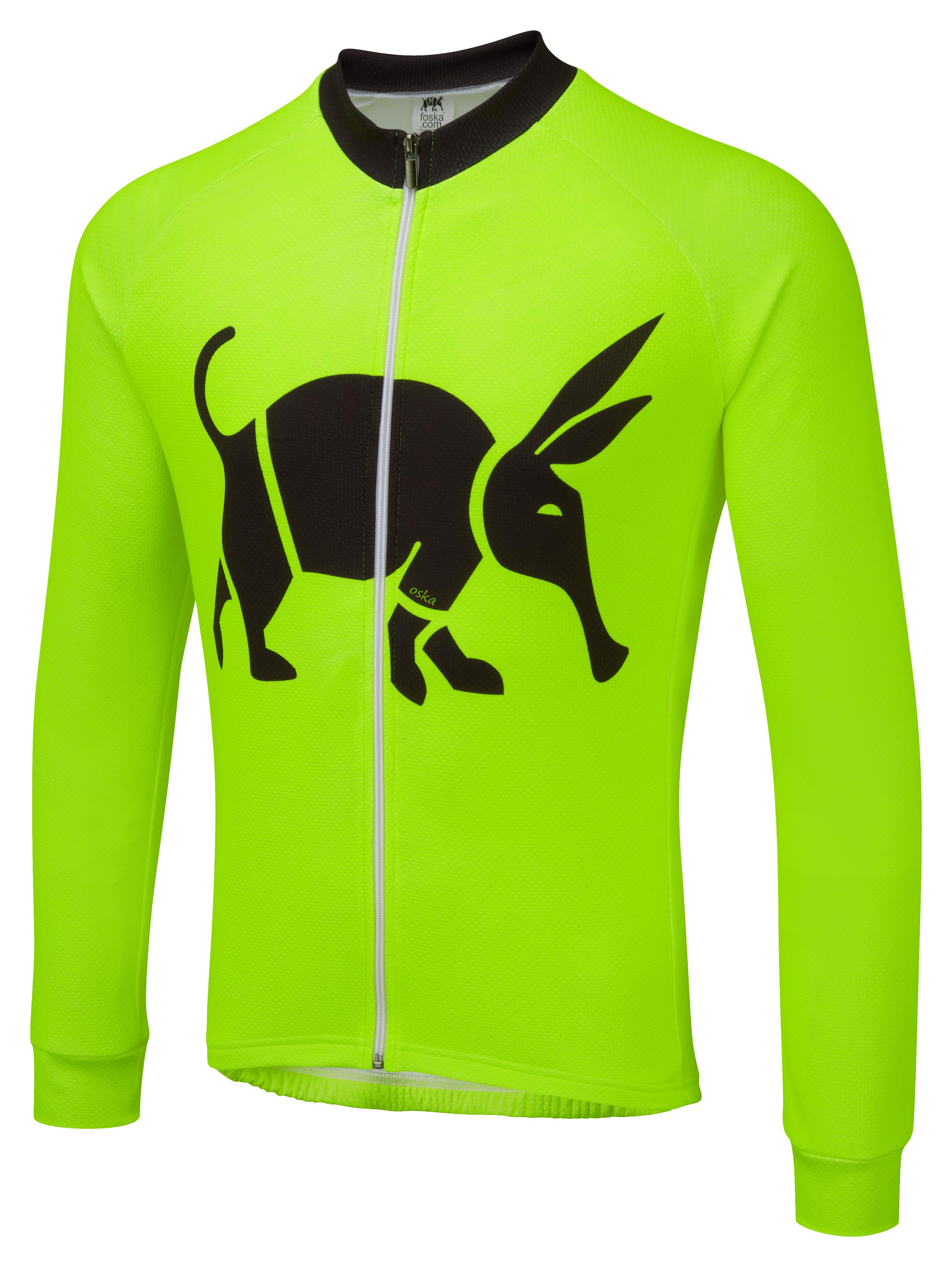 b2ee7d2f7 Oska Fluro Green Winter Cycling Jersey ...