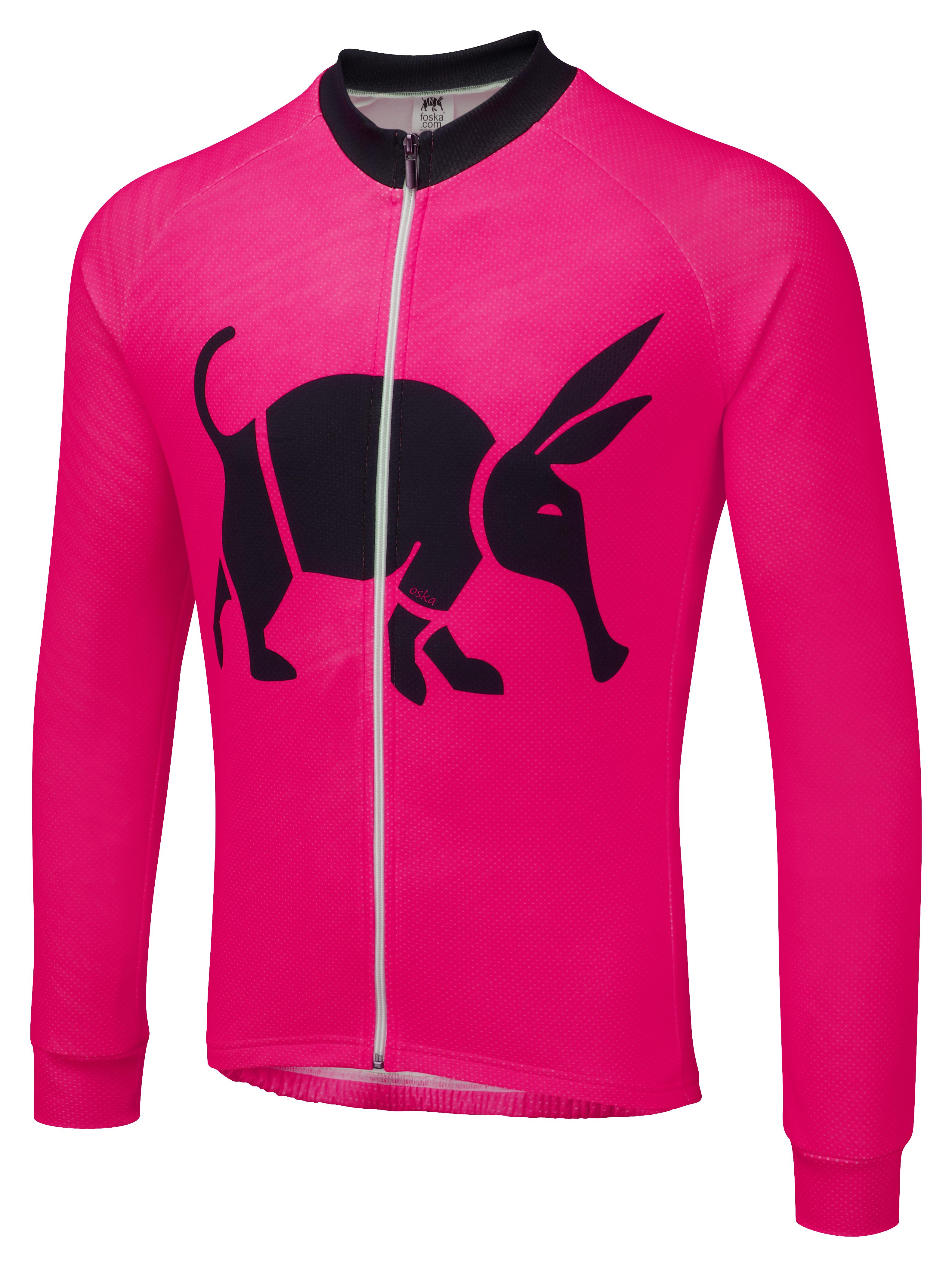 fb9f924ad Oska Fluro Pink Winter Cycling Jersey ...