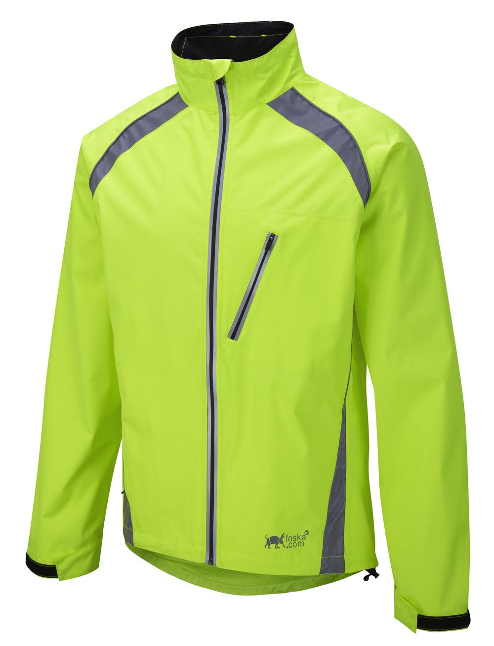 efd1d42ae Oska Hi-Vis Waterproof Cycling Jacket - Yellow ...