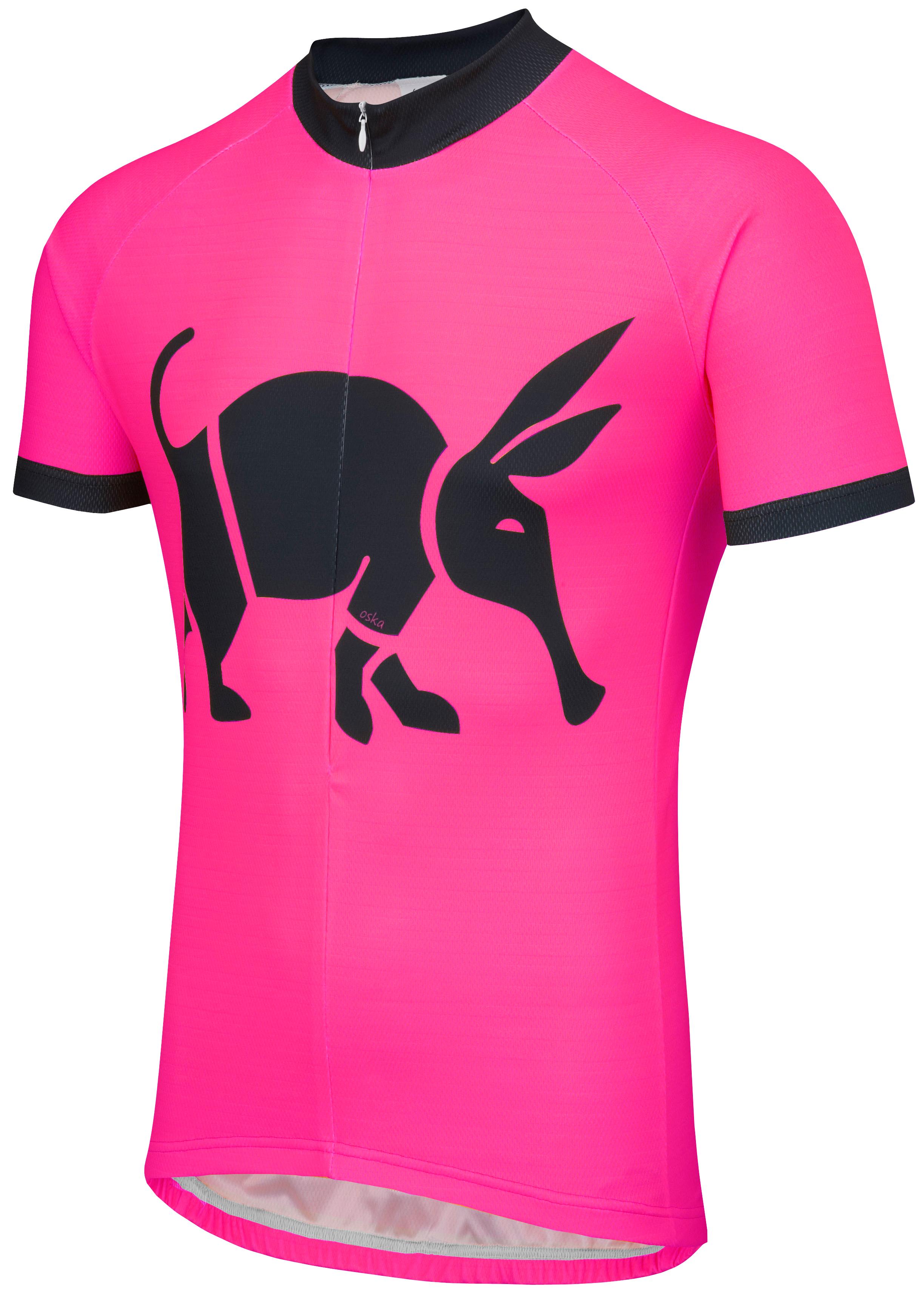 Oska Fluro Pink Road Cycling Jersey Womens Foska Com