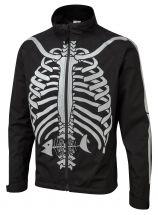 Bones Hi-Vis Waterproof Cycling Jacket - Black