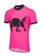 Oska Fluro Pink Kids Road Cycling Jersey