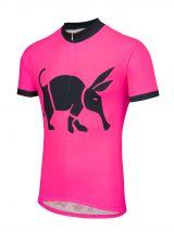 Oska Fluro Pink Kids Road Cycling Jersey