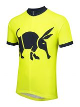 Oska Fluro Yellow Kids Road Cycling Jersey