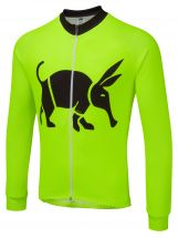 Oska Fluro Green Winter Cycling Jersey