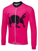 Oska Fluro Pink Winter Cycling Jersey