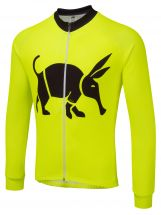 Oska Fluro Yellow  Winter Cycling Jersey