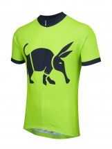 Oska Fluro Green Kids Road Cycling Jersey