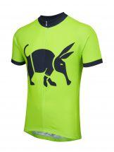 Oska Fluro Green Kids Road Cycling Jersey