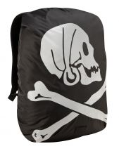 Pirate Hi-Vis Rucksack Cover - Black