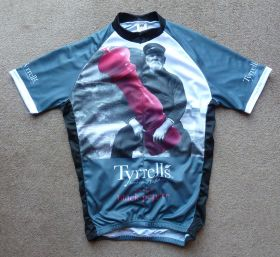 Tyrrell's Black Pepper Cycling Jersey Front