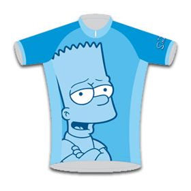 Discontinued Bart Simpson Kids Road Cycling Jersey  d3f064df0