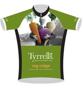 Tyrrell's Veg Crisps Cycling Jersey Front