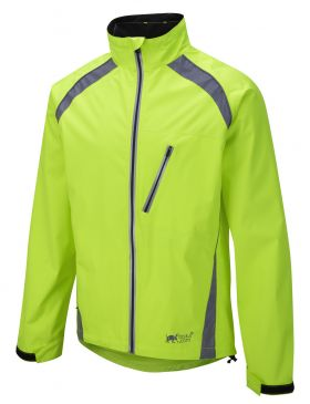 Oska Hi-Vis Waterproof Cycling Jacket - Yellow