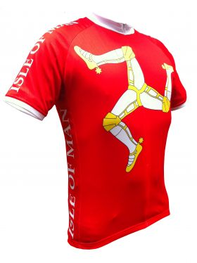 Red Isle of Man Road Cycling Jersey