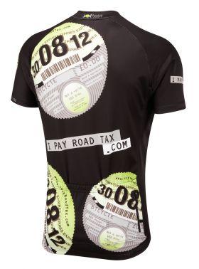 iPayRoadTax Road Cycling Jersey - Black Back