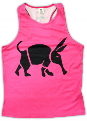 Oska Fluro Pink Running Vest