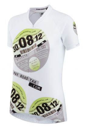 iPayRoadTax Road Cycling Jersey - White Front